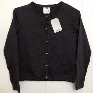 NWT Girl's Zara Sweater Cardigan Brown 13/14